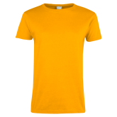 Ladies Gold T Shirt-Select-A-Logo
