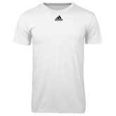 Adidas Climalite White Ultimate Performance Tee-Select-A-Logo