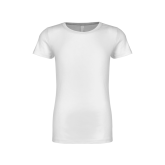 Youth Girls White Fashion Fit T Shirt-Select-A-Logo
