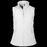 Ladies Core White Softshell Vest-Select-A-Logo