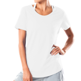 Ladies Under Armour White Charged Cotton Tee-Select-A-Logo