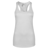 Next Level Ladies White Ideal Racerback Tank- Select-A-Station