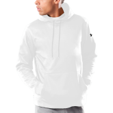 Under Armour White Armour Fleece Hoodie-Select-A-Logo