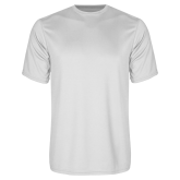Syntrel Performance White Tee-Select-A-Logo