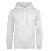 Russell DriPower White Fleece Hoodie-Select-A-Logo