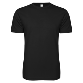 Next Level SoftStyle Black T Shirt-Select-A-Logo