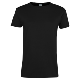 College Ladies Black T Shirt-Select-A-Logo