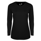 Ladies Syntrel Performance Black Longsleeve Shirt-Select-A-Logo