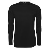 Under Armour Black Long Sleeve Tech Tee-Select-A-Logo