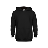 Youth Black Fleece Hoodie-Select-A-Logo