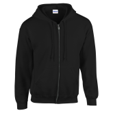 Black Fleece Full Zip Hoodie-Select-A-Logo