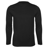 College Performance Black Longsleeve Shirt-Select-A-Logo