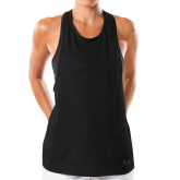 Ladies Under Armour Black Pinhole Tank-Select-A-Logo