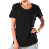 Ladies Under Armour Black Charged Cotton Tee-Select-A-Logo