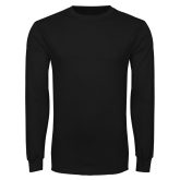 Black Long Sleeve TShirt-Select-A-Logo