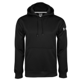 Under Armour Black Performance Sweats Team Hood-Select-A-Logo