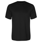 Syntrel Performance Black Tee-Select-A-Logo