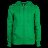 ENZA Ladies Kelly Green Fleece Full Zip Hoodie-Select-A-Logo