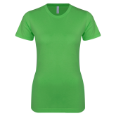 Next Level Ladies SoftStyle Junior Fitted Kelly Green Tee-Select-A-Logo