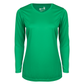 Ladies Syntrel Performance Kelly Green Longsleeve Shirt-Select-A-Logo