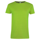 Ladies Lime Green T Shirt-Select-A-Logo