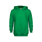 Youth Kelly Green Fleece Hoodie-Select-A-Logo