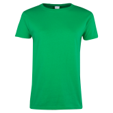 Ladies Kelly Green T Shirt-Select-A-Logo