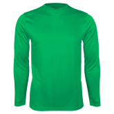 Performance Kelly Green Longsleeve Shirt-Select-A-Logo