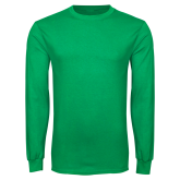 Kelly Green Long Sleeve T Shirt-Select-A-Logo