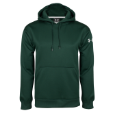 Under Armour Dark Green Performance Sweats Team Hoodie-Select-A-Logo