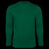Performance Dark Green Longsleeve Shirt-Select-A-Logo