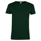 Ladies Dark Green T Shirt-Select-A-Logo