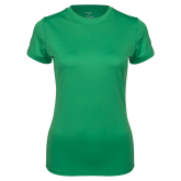 Ladies Syntrel Performance Kelly Green Tee-Select-A-Logo
