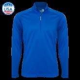 Syntrel Royal Blue Interlock 1/4 Zip-Select-A-Logo
