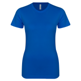 College Next Level Ladies SoftStyle Junior Fitted Royal Tee-Select-A-Logo