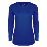 Ladies Syntrel Performance Royal Longsleeve Shirt-Select-A-Logo