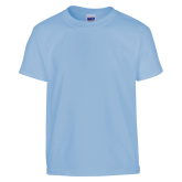 Youth Light Blue T Shirt-Select-A-Logo
