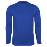 College Performance Royal Longsleeve Shirt-Select-A-Logo