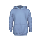 Youth Light Blue Fleece Hoodie-Select-A-Logo