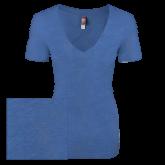 Next Level Ladies Vintage Royal Tri Blend V Neck Tee-Select-A-Logo