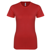 Next Level Ladies SoftStyle Junior Fitted Red Tee-Select-A-Logo