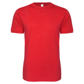 Next Level SoftStyle Red T Shirt-Select-A-Logo