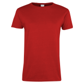 Ladies Red T Shirt-Select-A-Logo