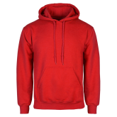 Red Fleece Hood-Select-A-Logo