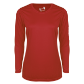 Ladies Syntrel Performance Red Longsleeve Shirt-Select-A-Logo