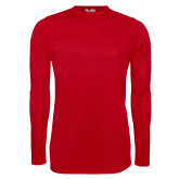Under Armour Red Long Sleeve Tech Tee-Select-A-Logo