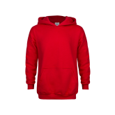 Youth Red Fleece Hoodie-Select-A-Logo