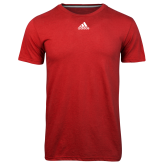 Adidas Climalite Red Ultimate Performance Tee-Select-A-Logo