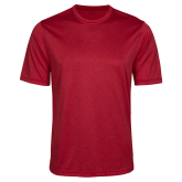 Performance Red Heather Contender Tee-Select-A-Logo