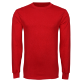 Red Long Sleeve T Shirt-Select-A-Logo